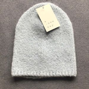 Accessories - Baby Blue Knit Hat with Sparkle